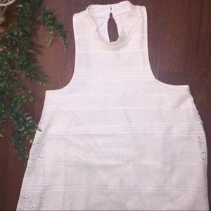 Hollister White Lace Collared Tank